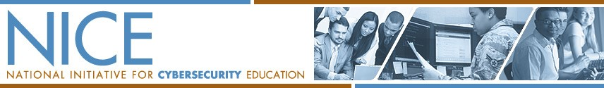 The National Initiative for Cybersecurity Education Banner, links back to Initiative webpage