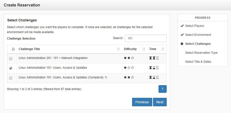Create Reservation UI Screenshot